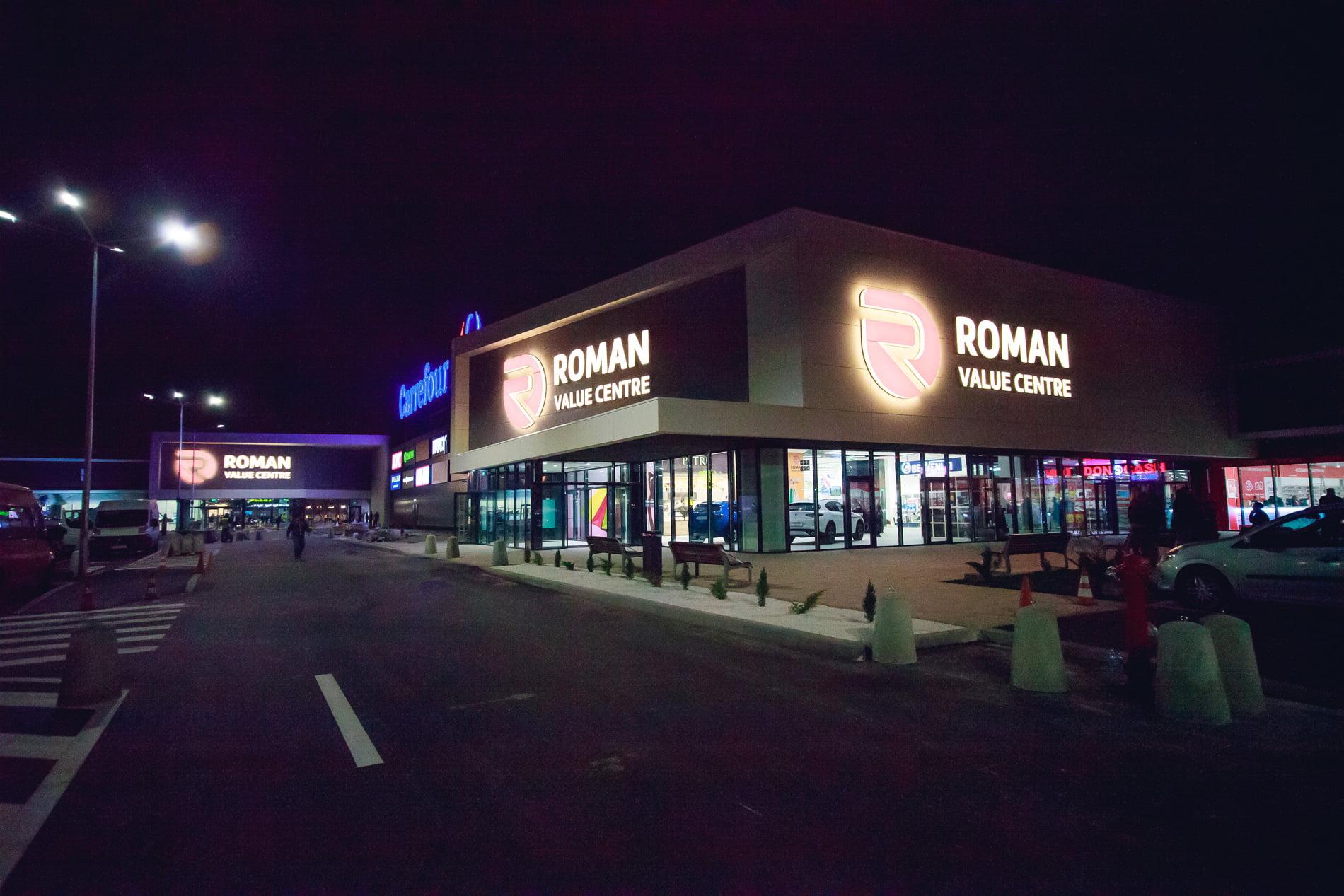 Joi se deschide centrul comercial Roman Value Centre. FOTO