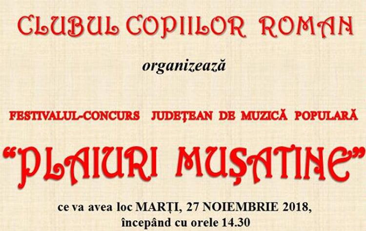 """Festivalul-concurs de muzică populară """"Plaiuri mușatine"""""""