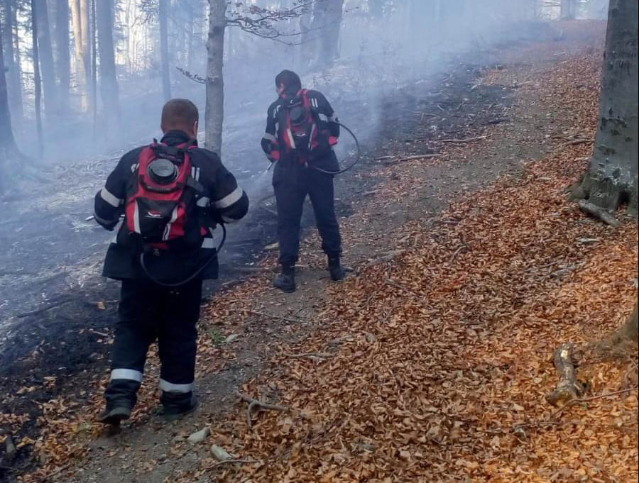 Pompierii romașcani, mobilizați pentru stingerea unui incendiu în zona Tîrgu Neamț