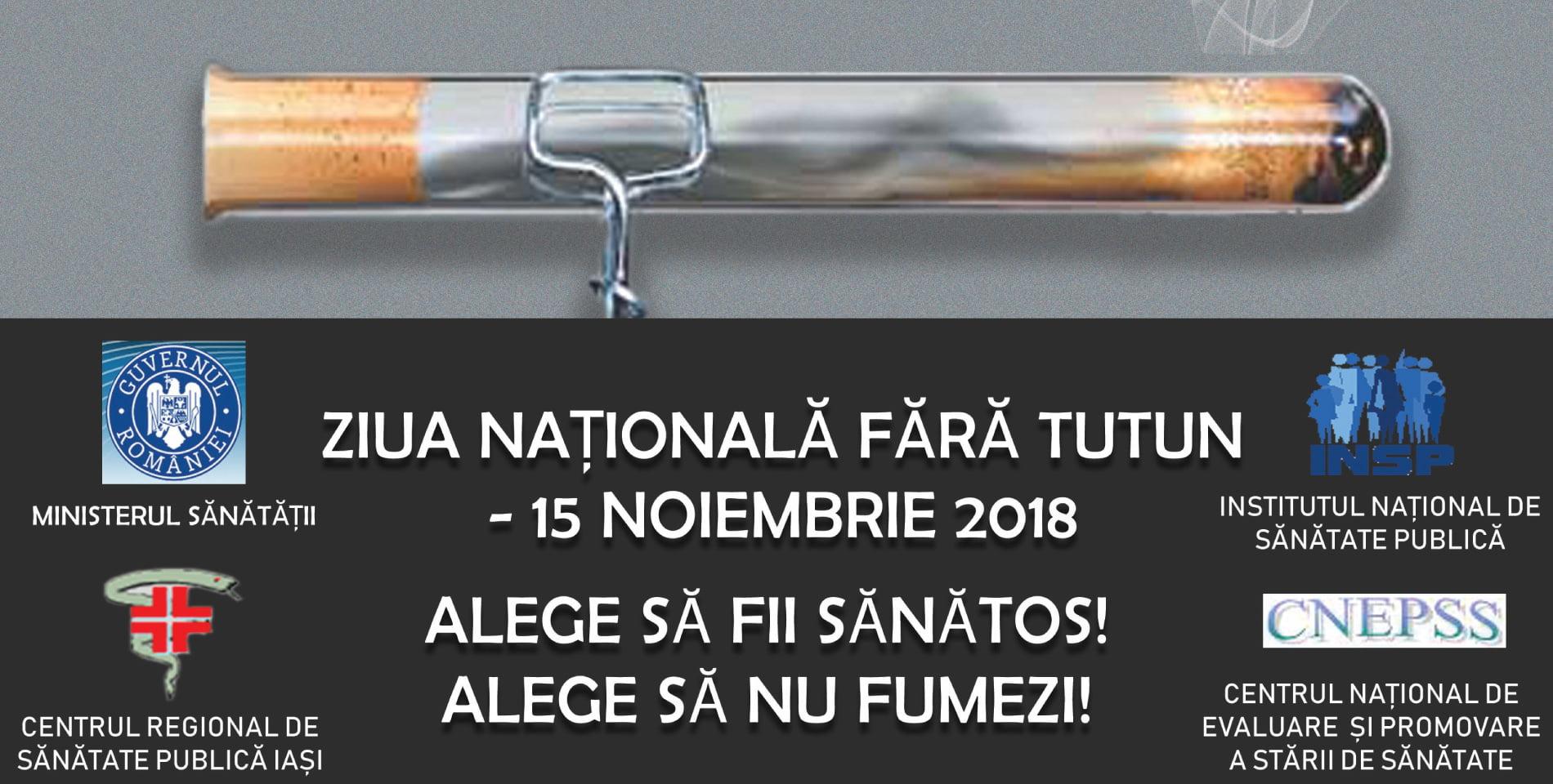 15 noiembrie, Ziua naţională fără tutun