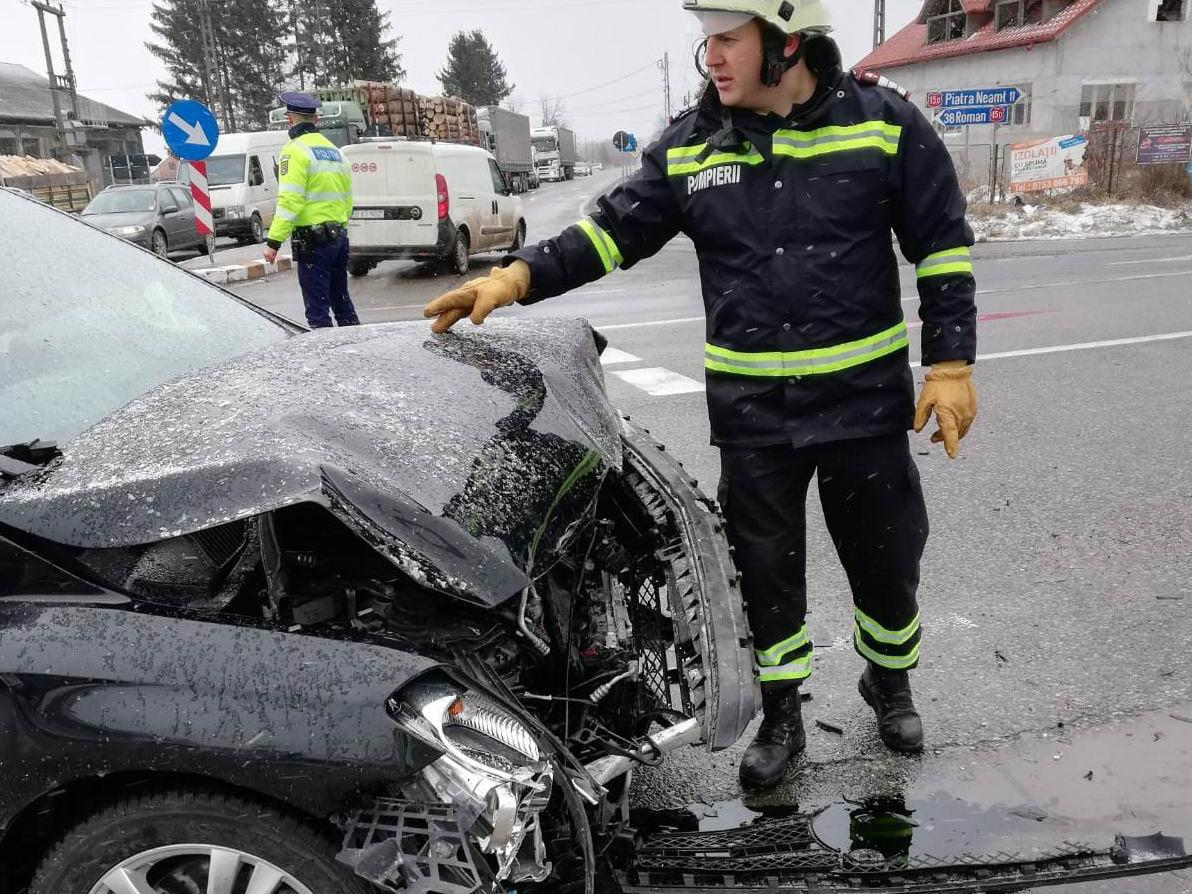 Accident rutier cu patru victime pe șoseaua Roman – Piatra Neamț