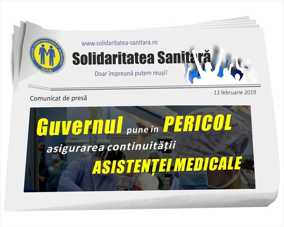 """Federația """"Solidaritatea Sanitară"""": """"Guvernul pune în pericol asigurarea continuității asistenței medicale"""""""