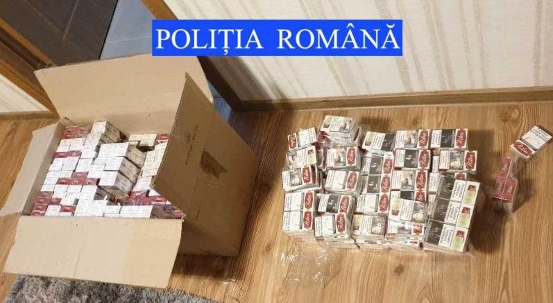 Două persoane reținute și 280.000 de țigări de contrabandă confiscate de polițiști