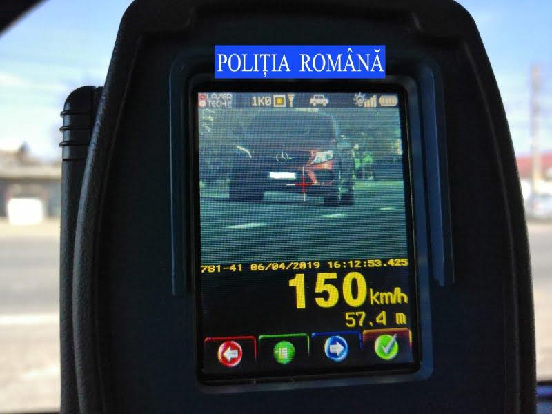 84 de șoferi și-au pierdut permisul din cauza vitezei, săptămâna trecută