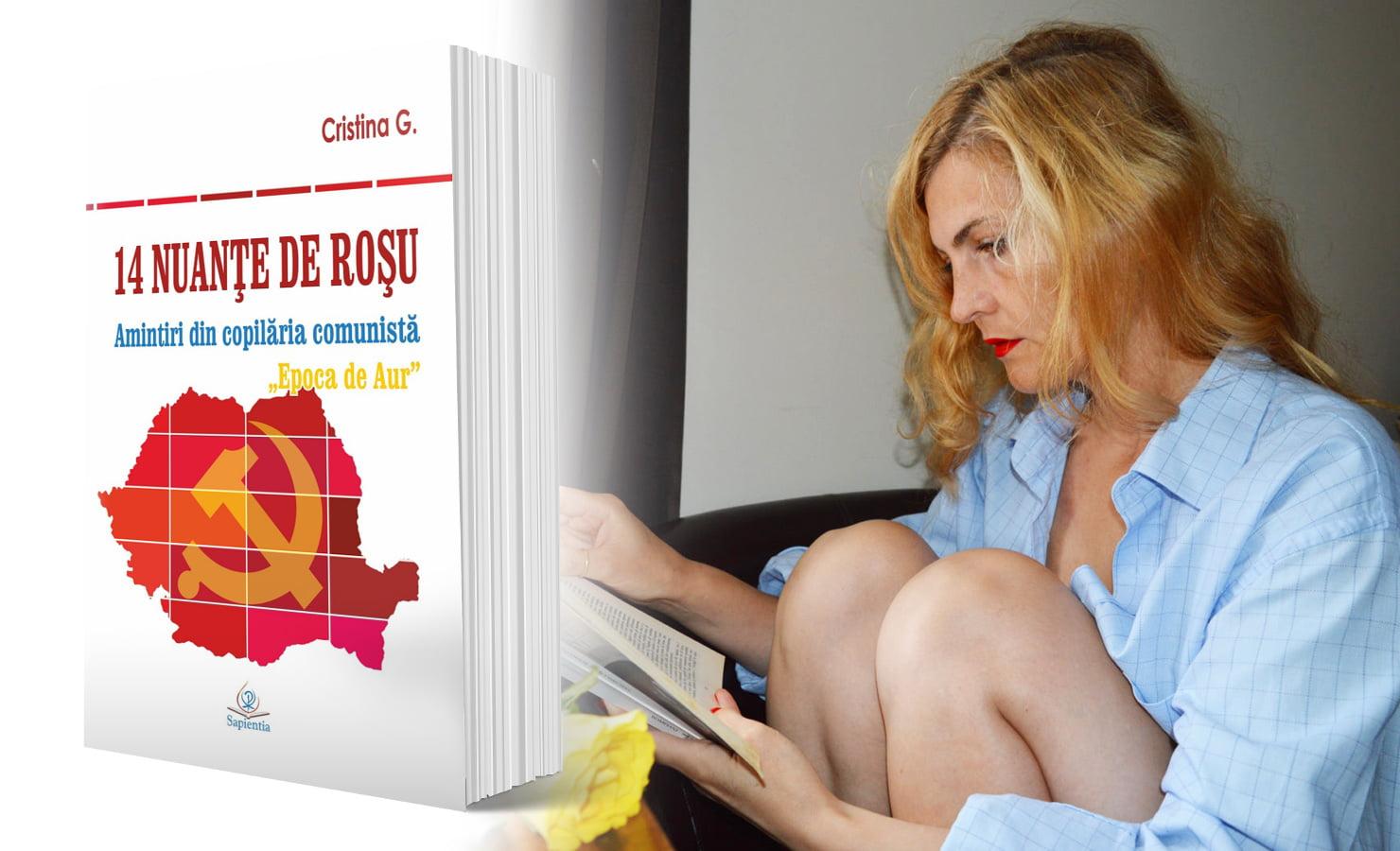 """Lansare de carte, duminică, la Gherăești, a autoarei Cristina Gherghel: """"14 nuanțe de roșu: Amintiri din copilăria comunistă"""""""