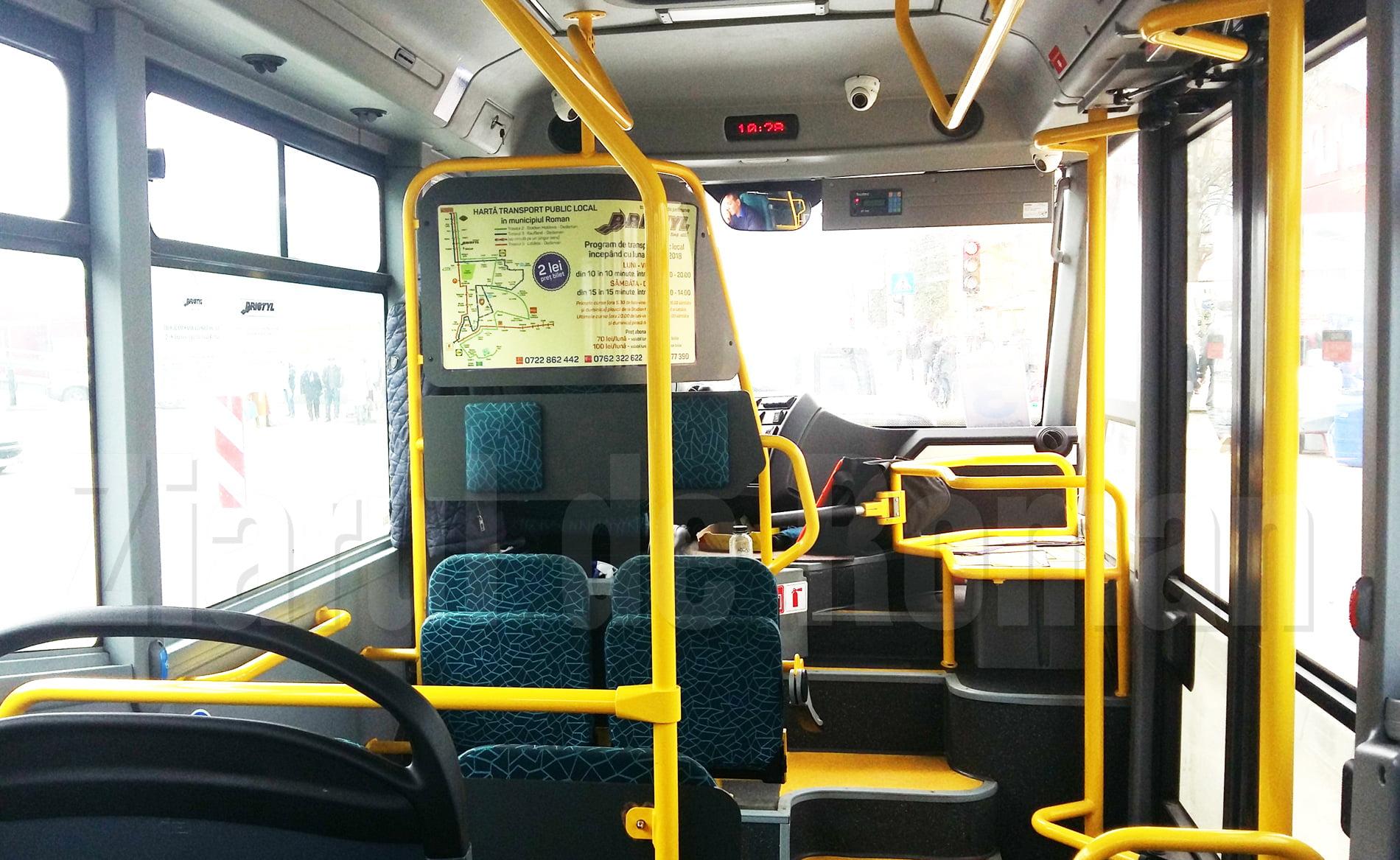 Transportul public local în Roman, suspendat de sâmbătă