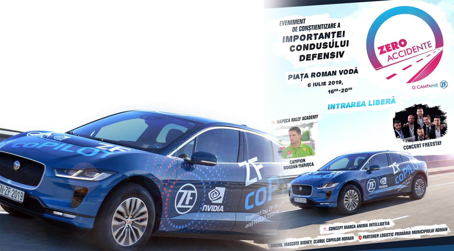 """Campionul Bogdan Marișca – Napoca Rally Academy vine la Roman în cadrul campaniei """"Zero Accidente"""", derulată de ZF și Anima Intelligentia"""