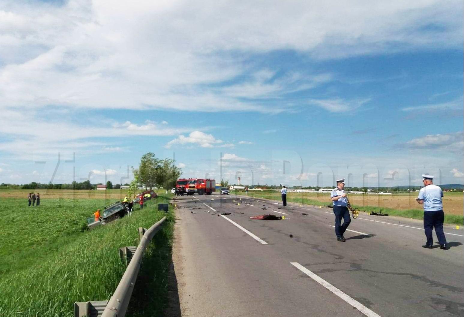 Circulație blocată pe E 85 la Horia, în urma unui grav accident rutier