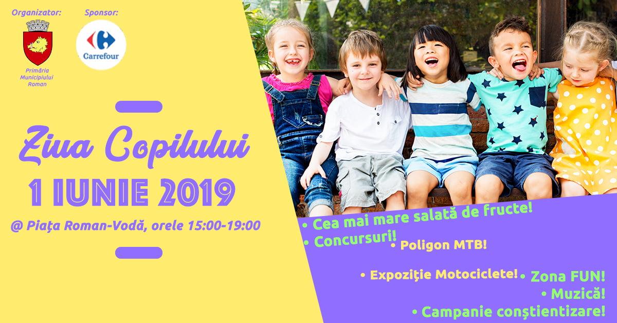 """Manifestări dedicate Zilei Copilului, sâmbătă, în Piața """"Roman Vodă"""""""