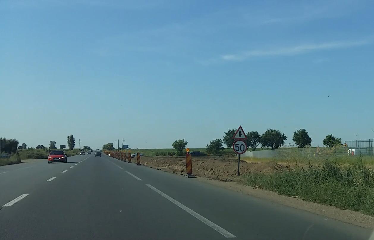 Lidl reface intersecția E85 cu drumul spre Tămășeni până la sfârșitul anului