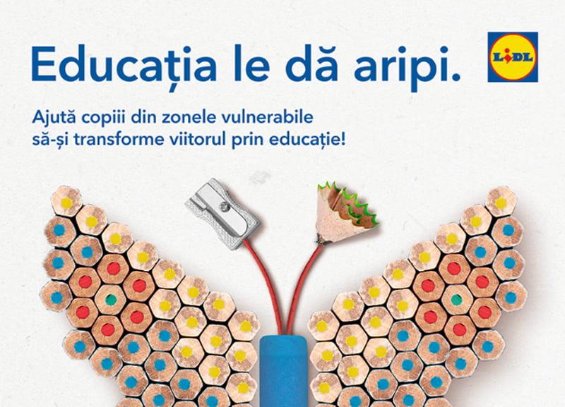 Clienții Lidl pot sprijini programul Teach for Romania pentru școlile din țară