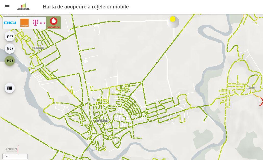 S-a lansat site-ul care arată cât de bun este semnalul de telefonie mobilă al reţelelor din România