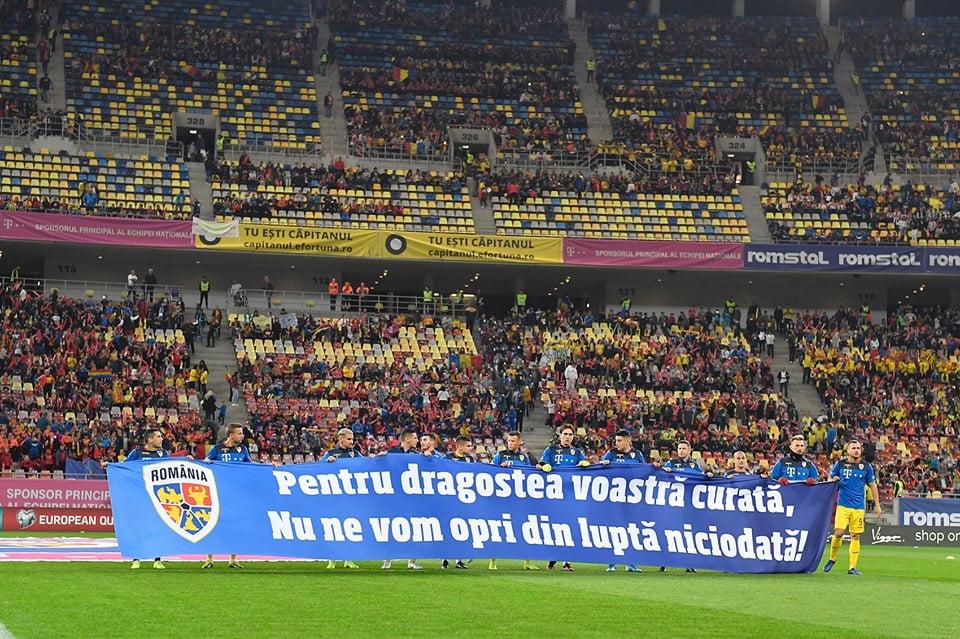 25 de copii romașcani i-au susținut pe tricolori în meciul cu Norvegia, pe Arena Națională