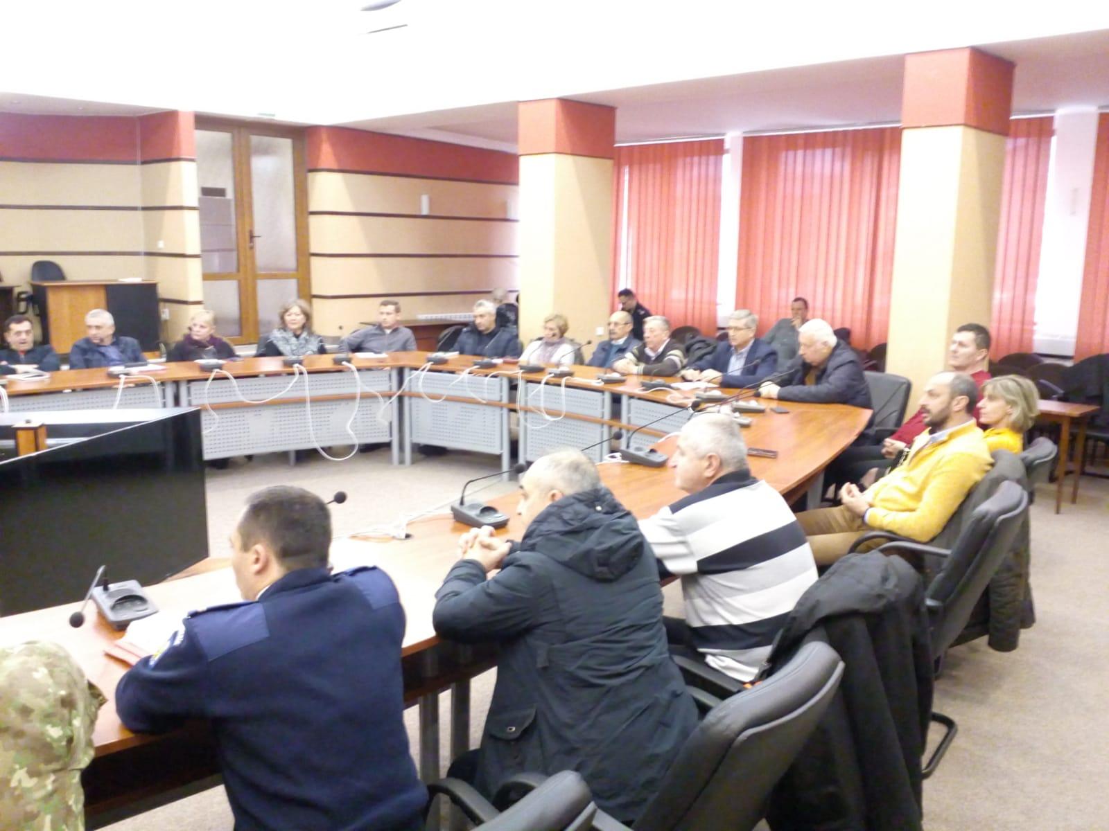 Comitet județean pentru situații de urgență, pentru problema apei