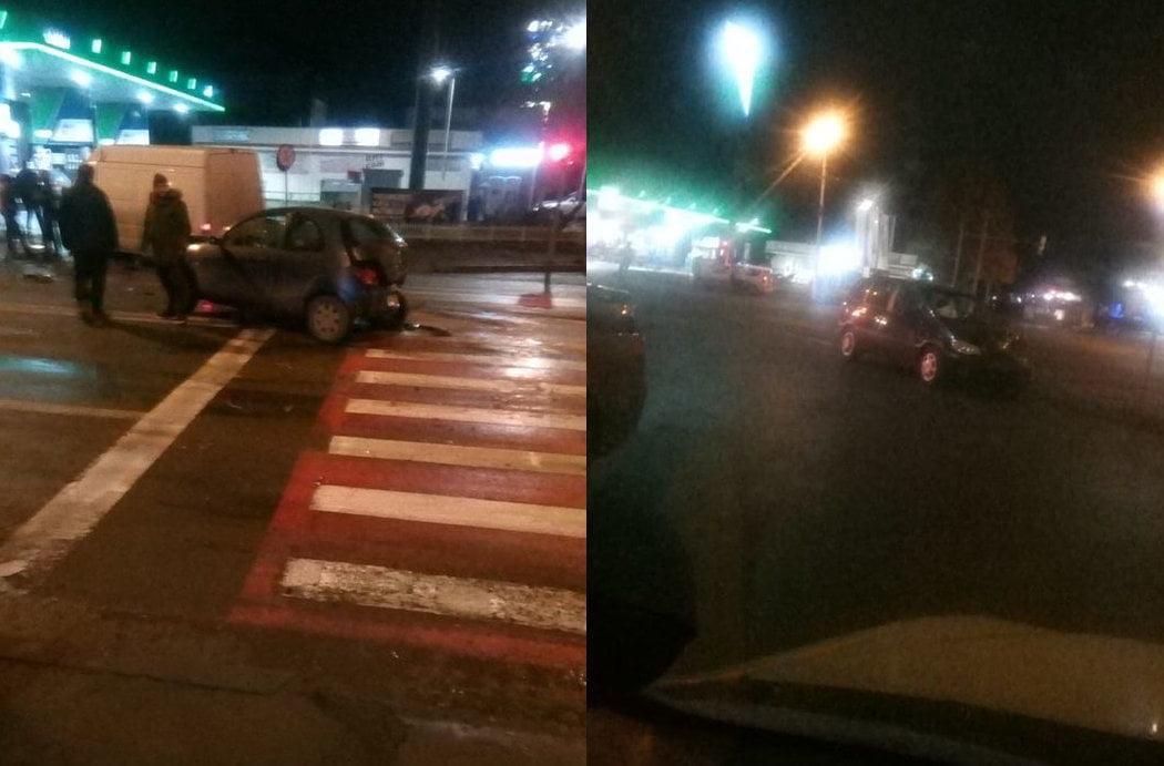 Accident rutier cu trei mașini avariate, provocat de un șofer băut