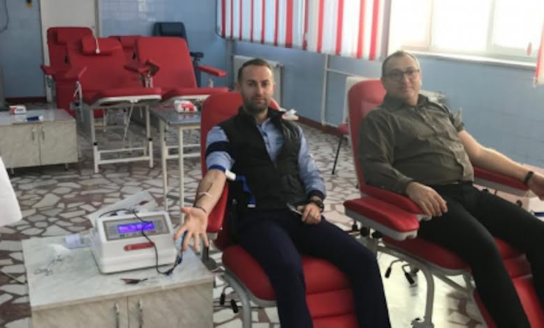 Polițiștii au donat sânge