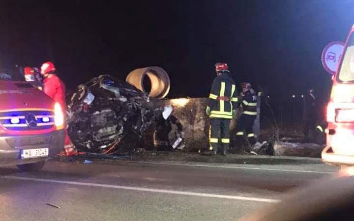 Accident rutier mortal pe E85, la Traian