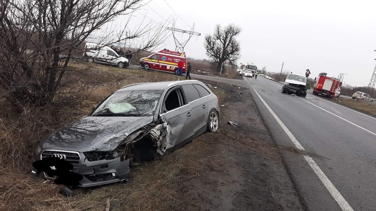 Accident rutier pe E 85, lângă Săbăoani