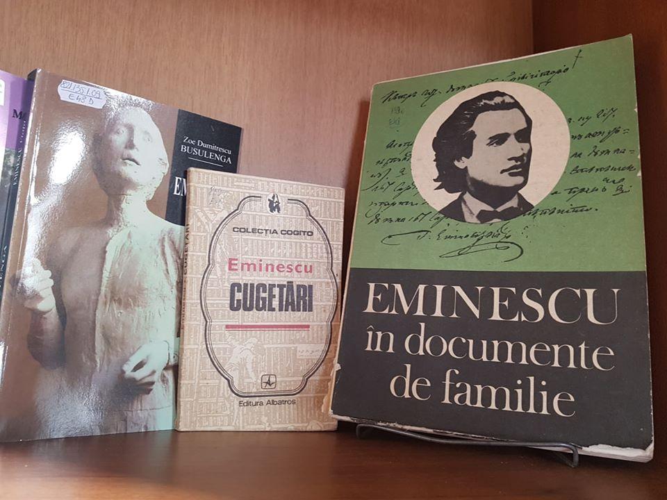 """Manifestări dedicate poetului Mihai Eminescu, la Biblioteca """"George Radu Melidon"""""""