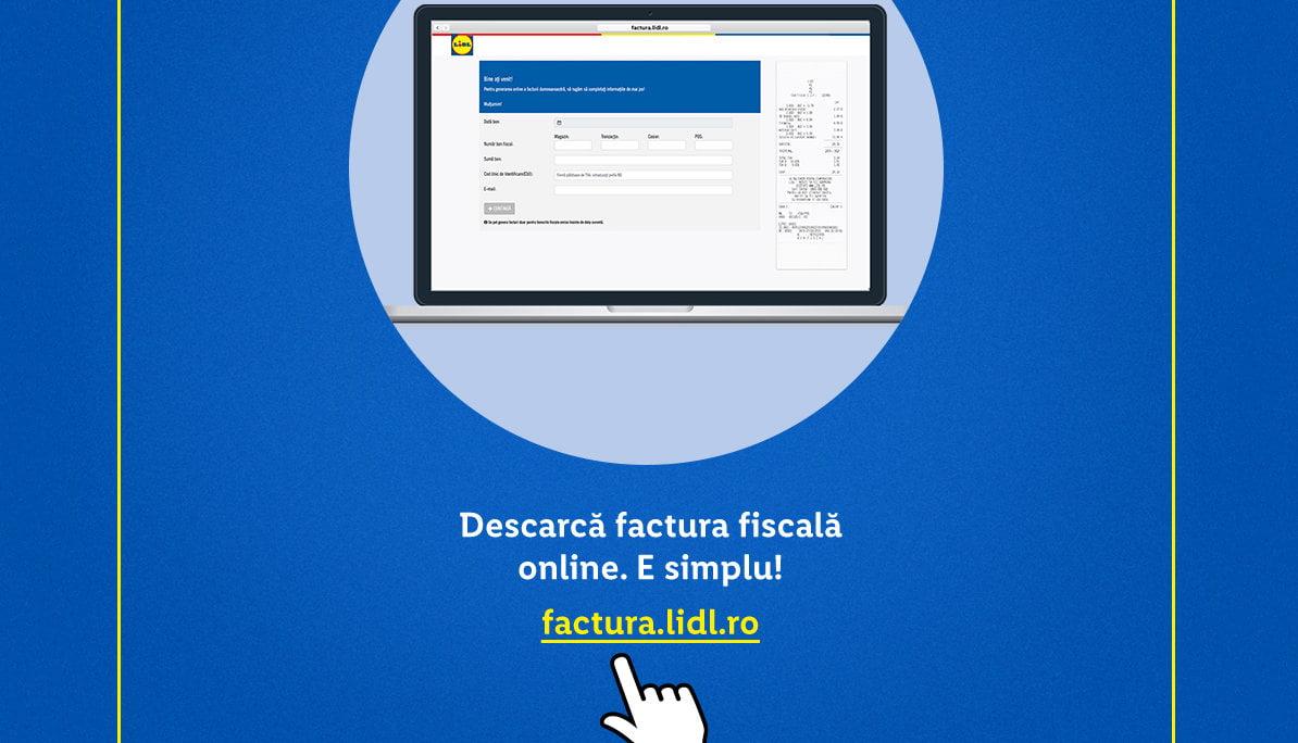Lidl recomandă utilizarea serviciului de emitere online a facturilor pentru persoane juridice