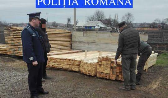 Controale ale polițiștilor pentru prevenirea și combaterea tăierilor ilegale de arbori