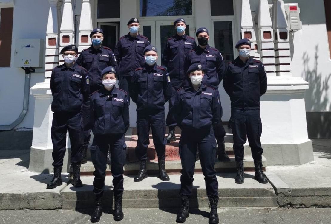 Elevi jandarmi în practică la Jandarmeria Neamț