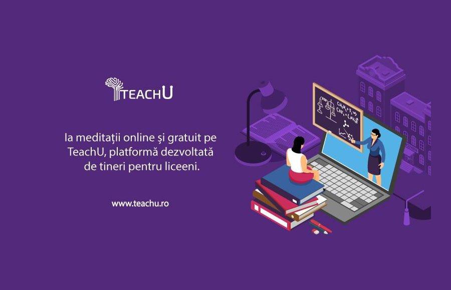 S-a lansat TeachU, prima platformă de meditații gratuite din România