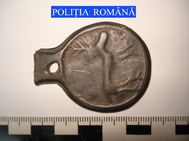 Matriță antică, recuperată de polițiști