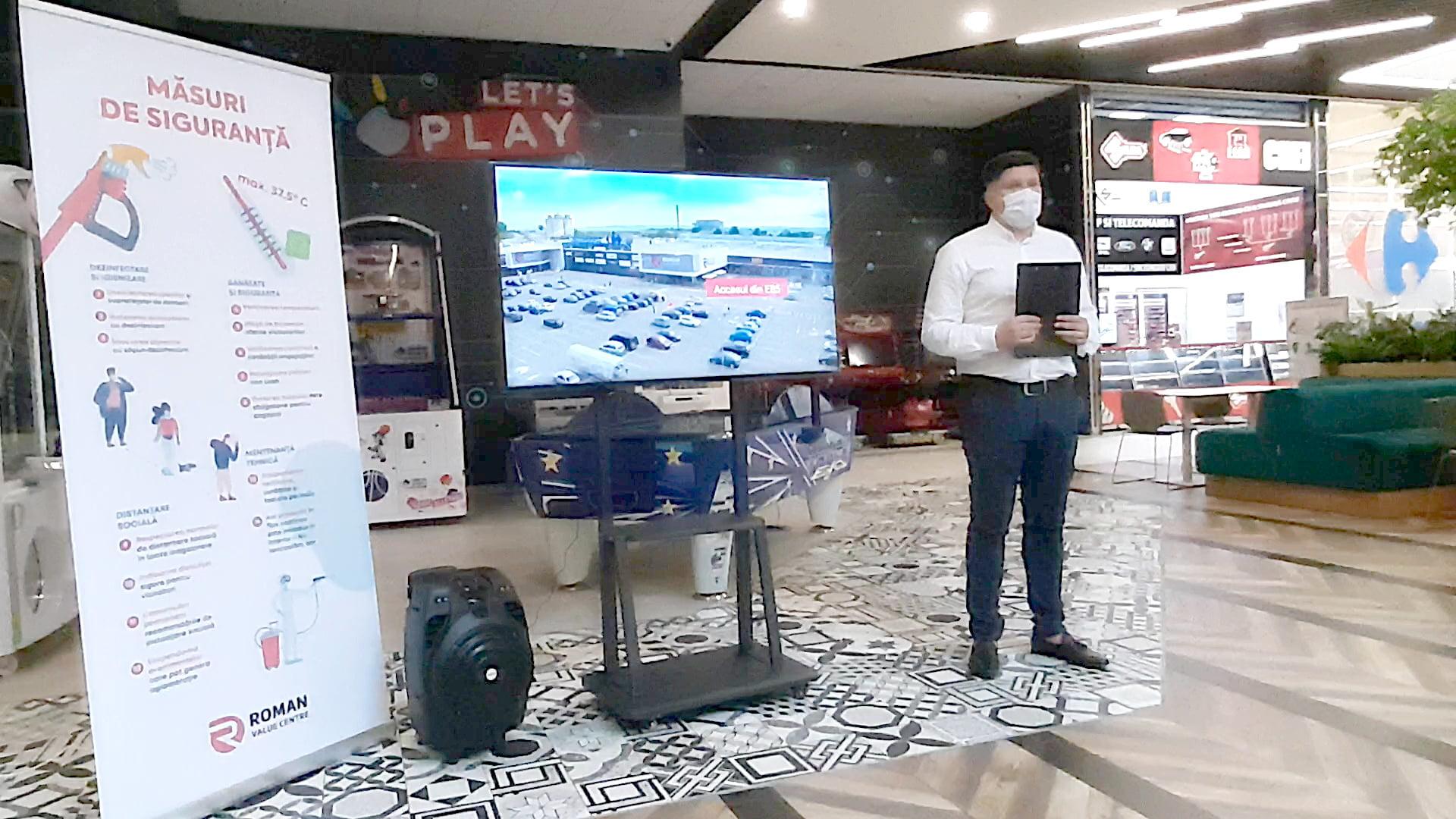 Roman Value Centre își așteaptă clienții la Cinema Drive. Ce măsuri de siguranță s-au luat în cadrul centrului comercial