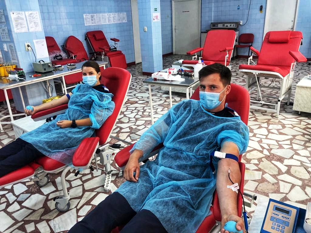 Jandarmii nemțeni au donat sânge