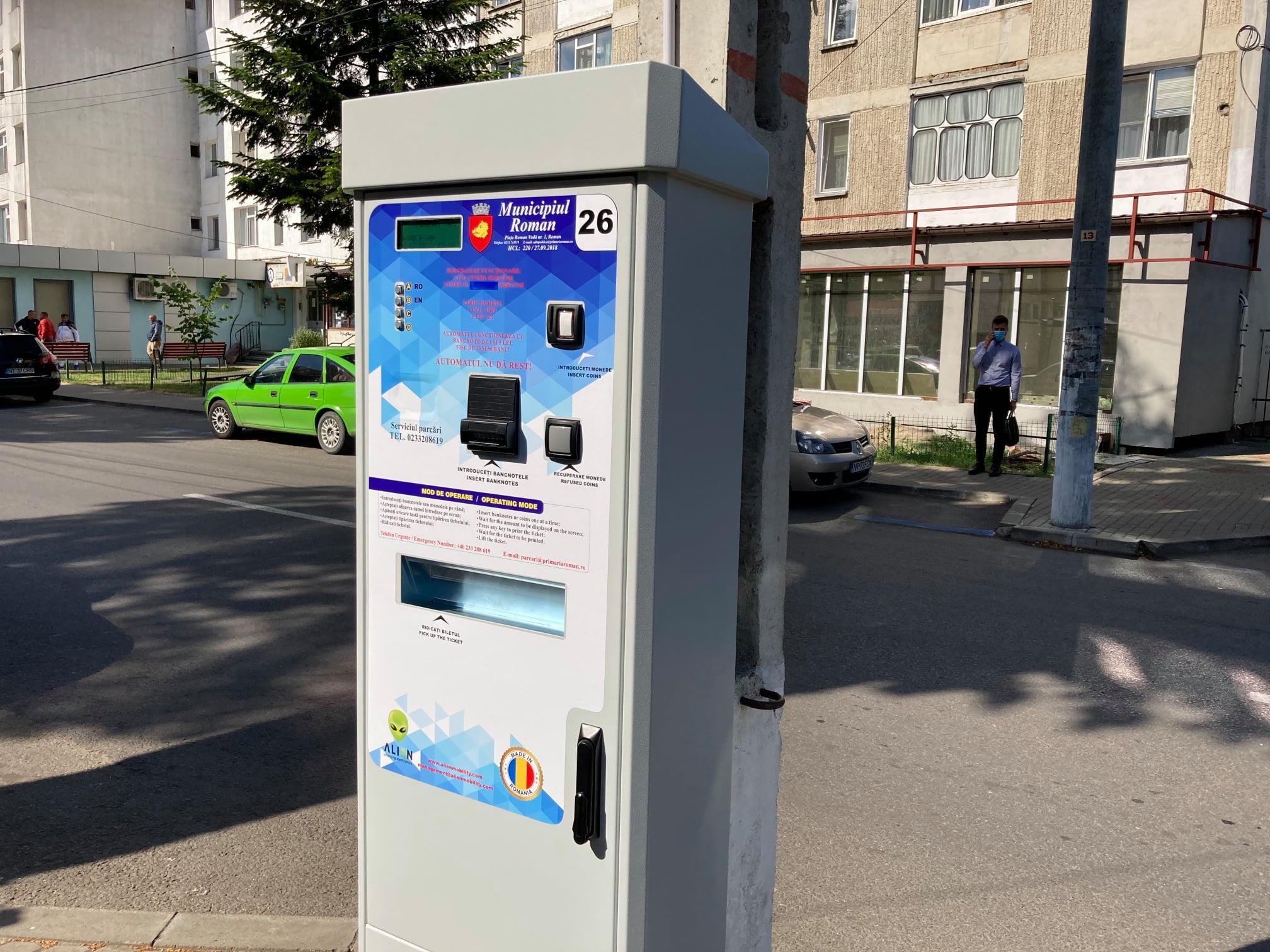 Cinci parcometre noi pentru plata parcărilor publice