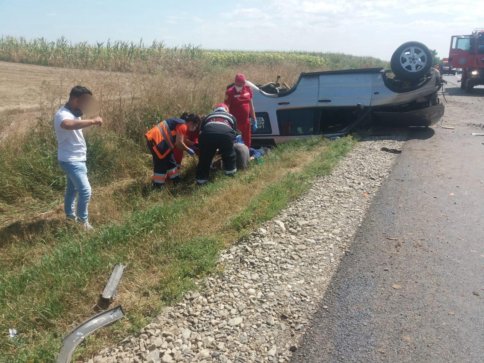 Accident rutier cu două victime pe E 85, lângă Traian