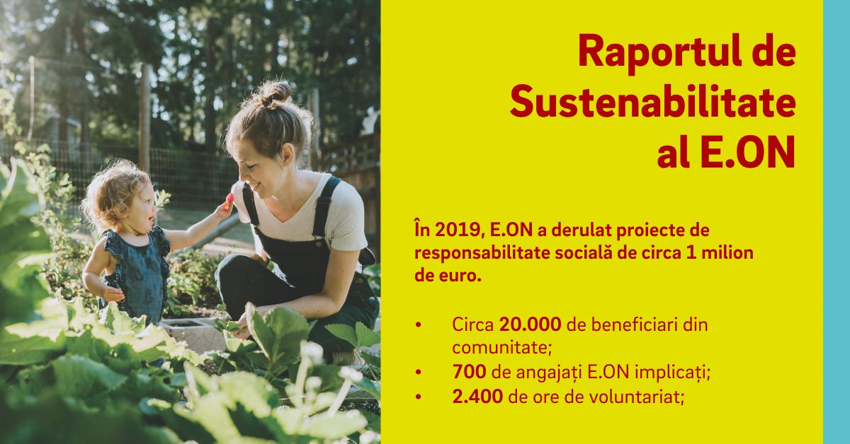 În 2019, E.ON a derulat proiecte de responsabilitate socială de circa 1 milion de euro