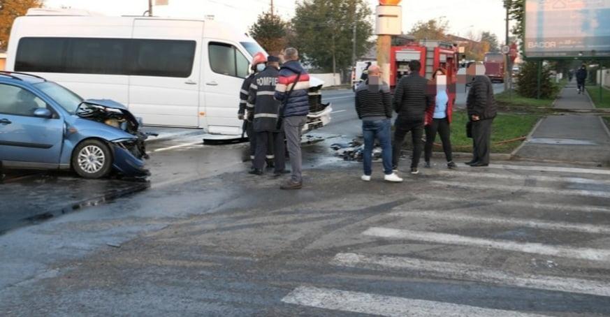 Accident rutier cu patru răniți, pe strada Ștefan cel Mare