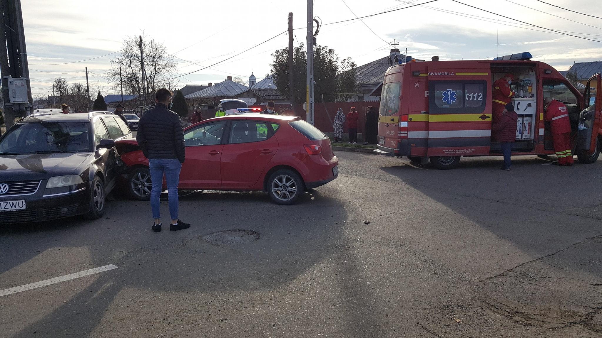 Accident rutier în cartierul Nicolae Bălcescu. O persoană a fost rănită
