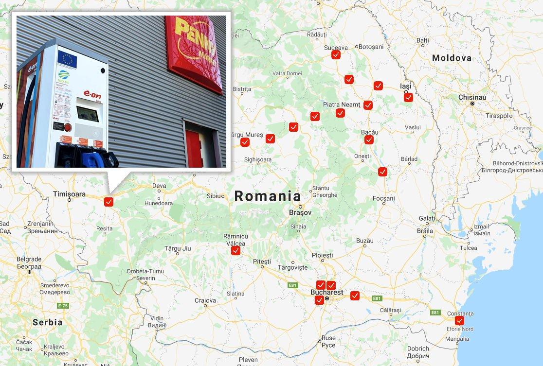 E.ON a finalizat instalarea celor 19 stații de încărcare rapidă a mașinilor electrice din cadrul proiectului european NEXT-E