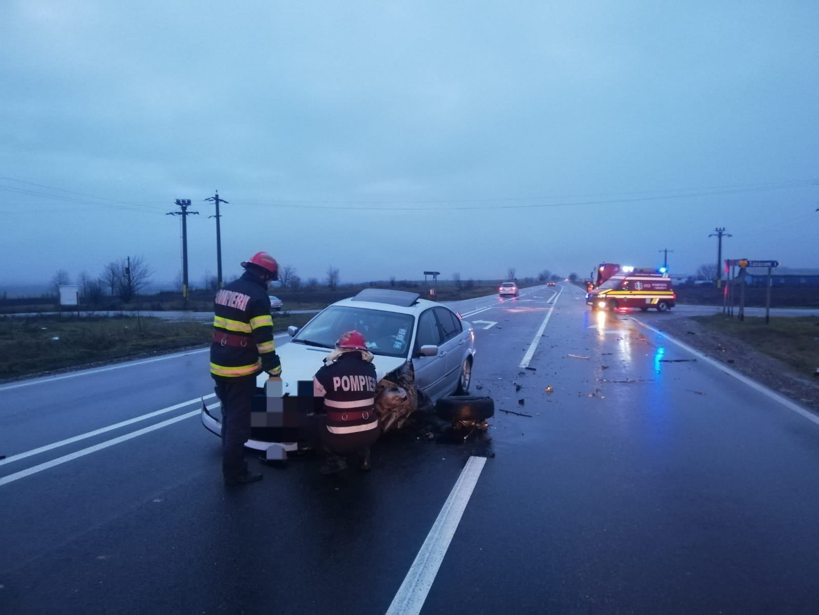 Accident rutier pe E 85, la Săbăoani
