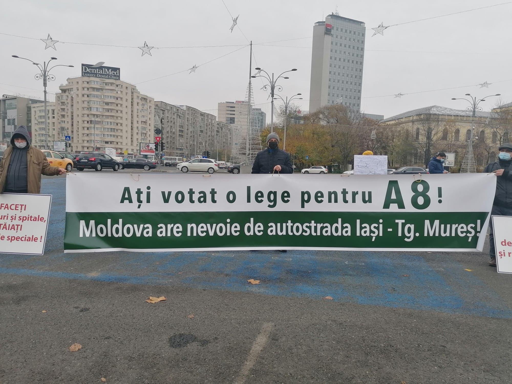 """Partidul Împreună pentru Moldova: """"Protest pentru A8. Unde este finanțarea pentru autostrada Unirii?"""""""