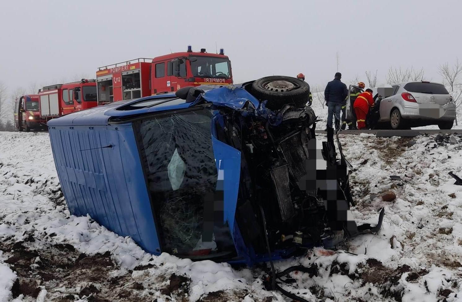 Accident rutier cu două victime la Pildești