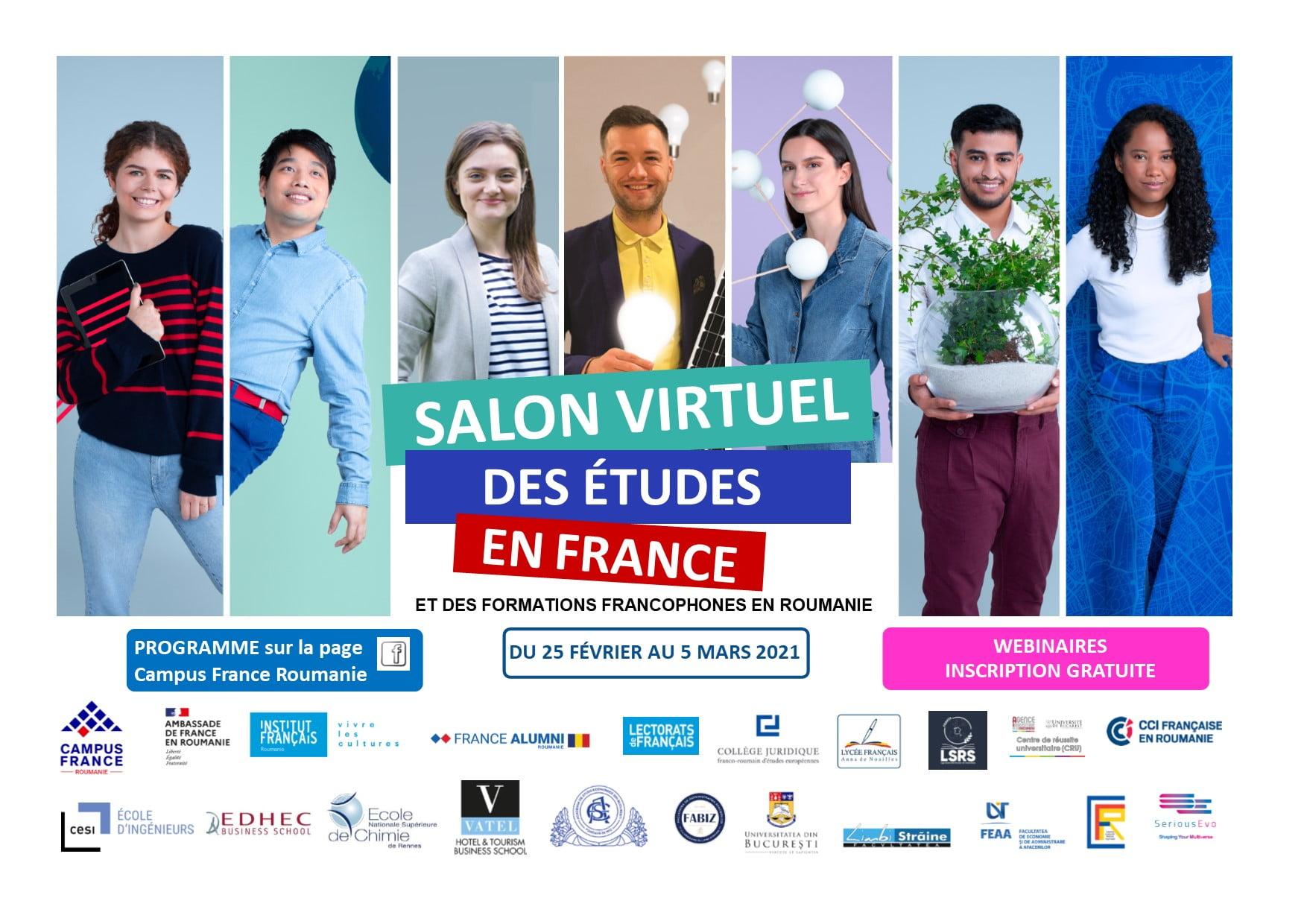 Salon virtual al studiilor în Franța și al formărilor universitare în limba franceză din România