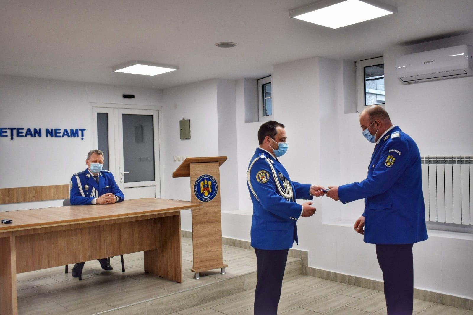 Donare de sânge și avansări în grad, de Ziua Jandarmeriei