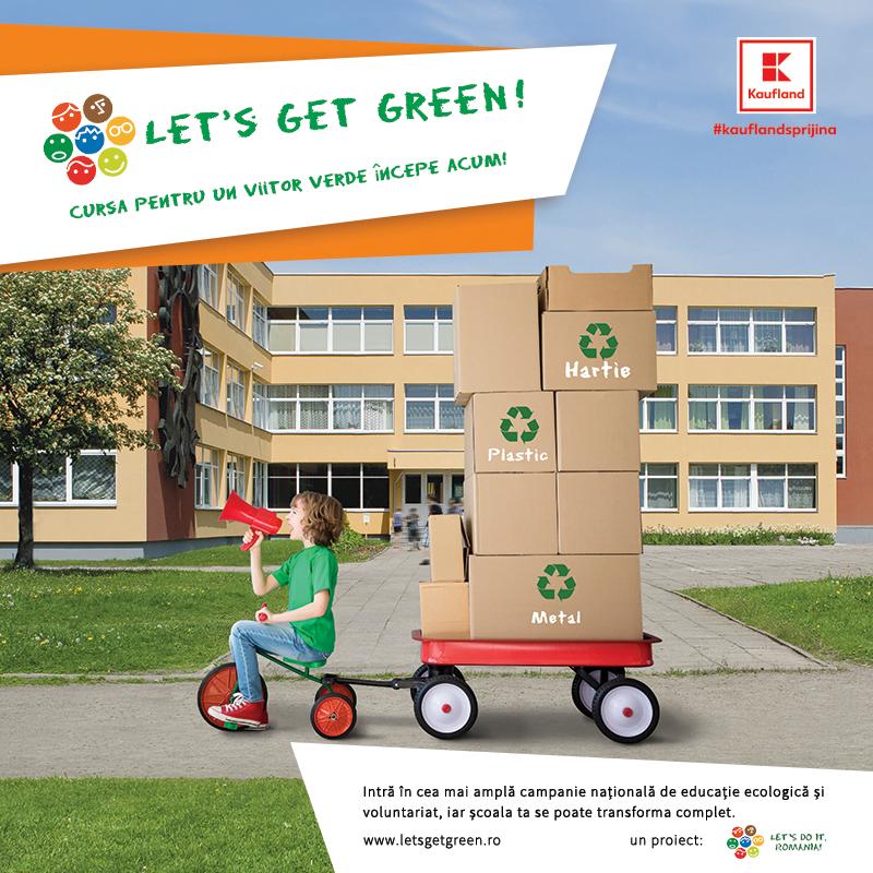 """Școlile pot câștiga o finanțare de 15.000 de euro în cadrul campaniei """"Let's Get Green"""""""