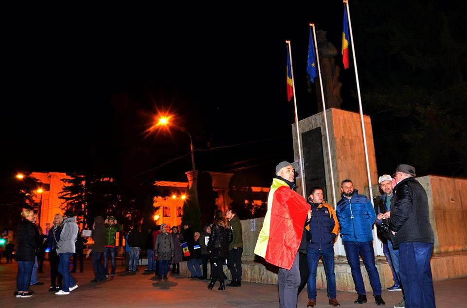 Romașcanii au protestat împotriva Legilor Justiției