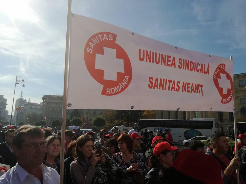 10.000 de membri SANITAS i-au cerut guvernului să nu ignore problemele angajaților din sănătate și asistență socială