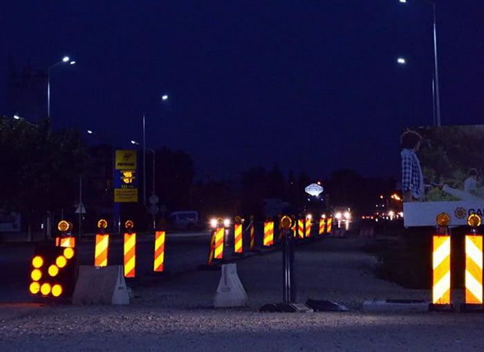 Semnale luminoase noi la sensul giratoriu Poarta Nord
