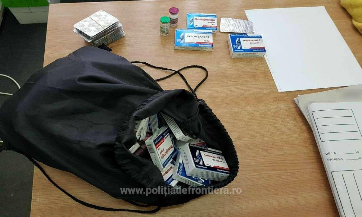 Mii de comprimate cu substanţe anabolizante, descoperite la frontieră într-un autocar înmatriculat în Neamț