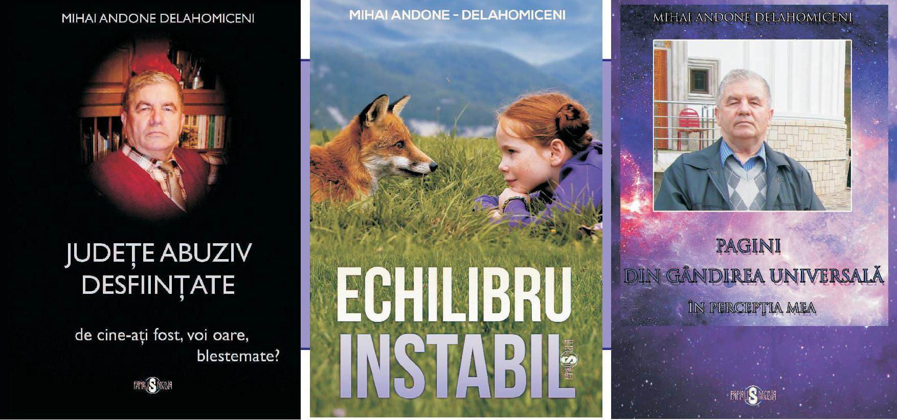Profesorul Mihai Andone lansează trei volume la Biblioteca Municipală